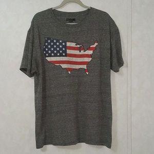 Leisure Lounge USA Graphic T-Shirt Crew Neck